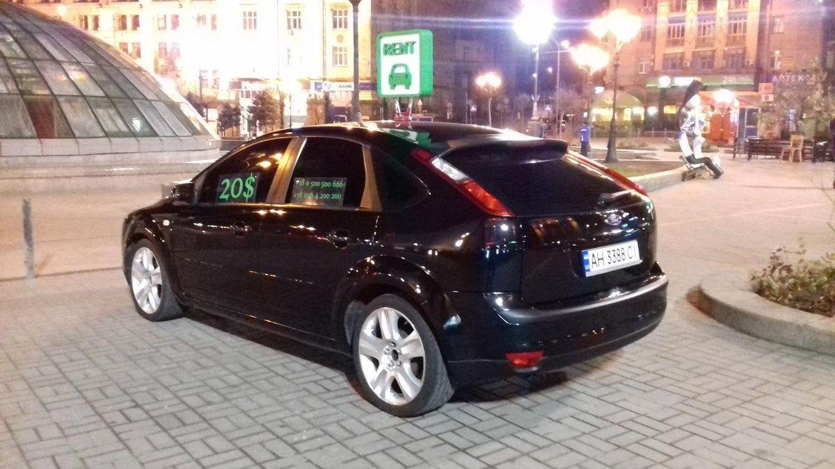 Автомобиль, черный цвет, прокат