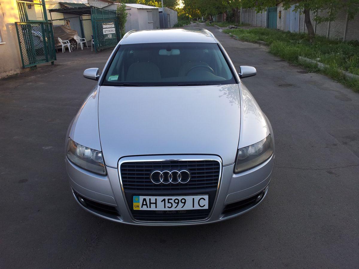 Машина, Audi A6, вид спереди