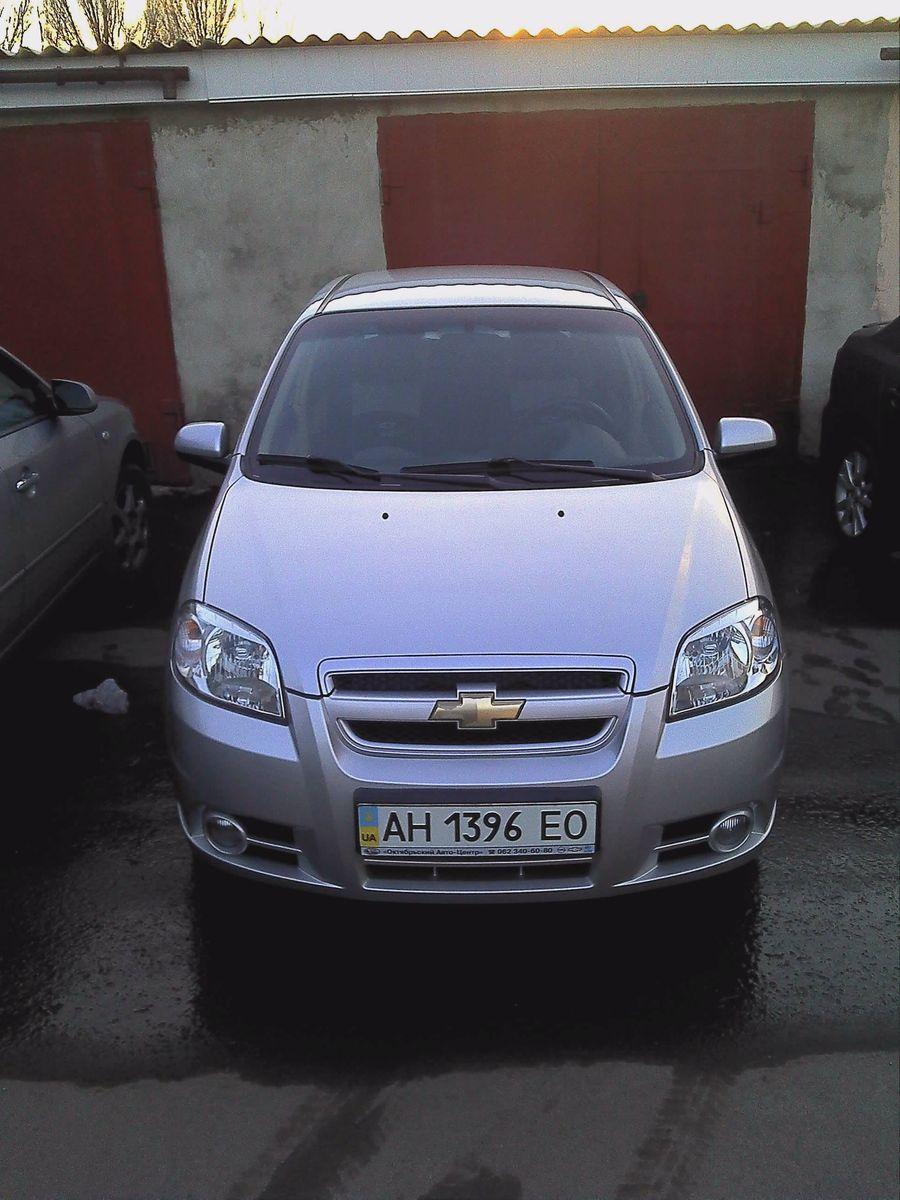 Машина, Chevrolet Aveo, вид спереди