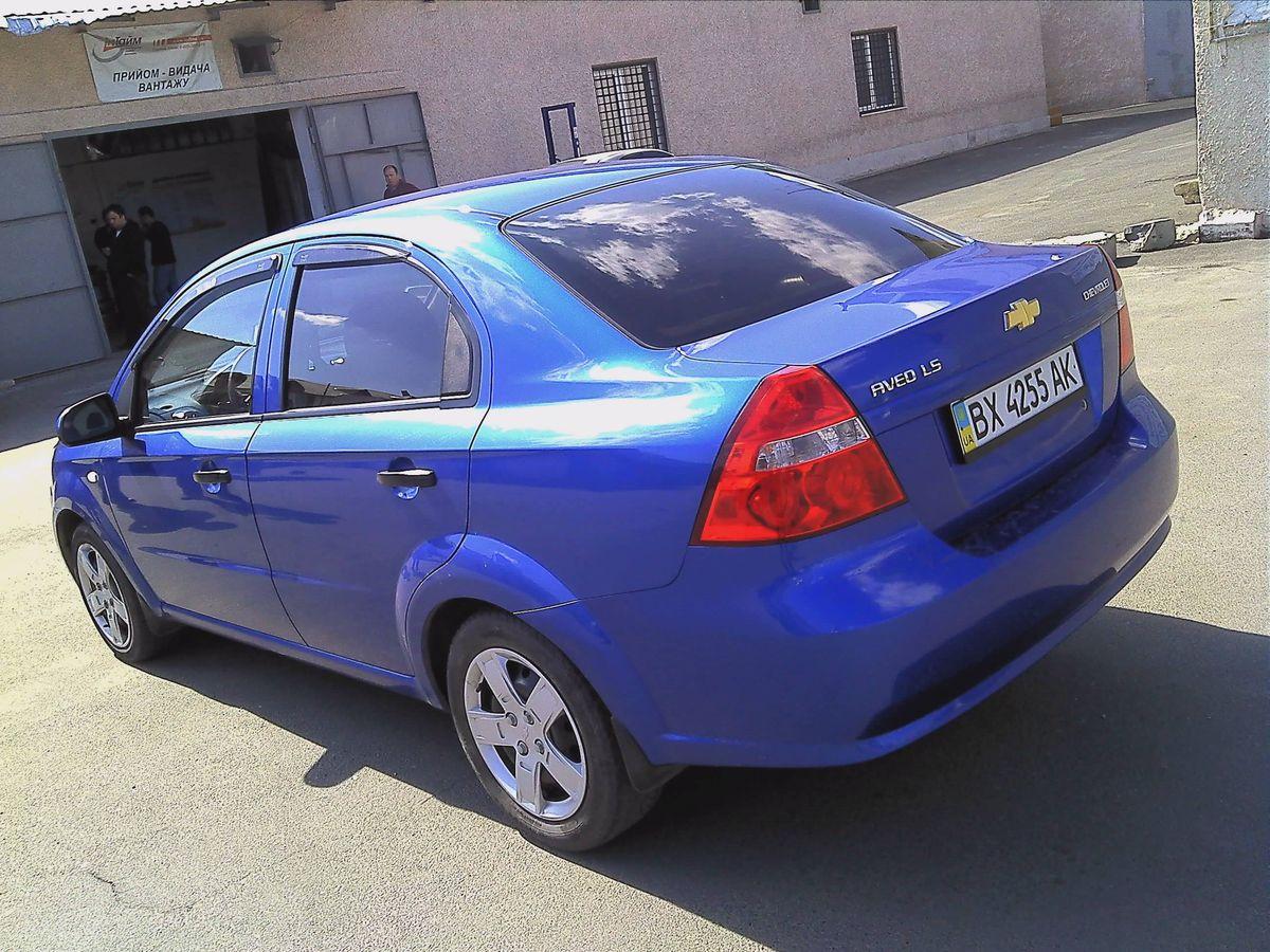 Машина, Chevrolet Aveo Blue, вид сзади