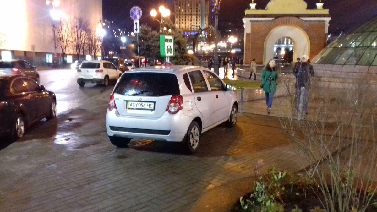 Авто ZAZ, вид сзади