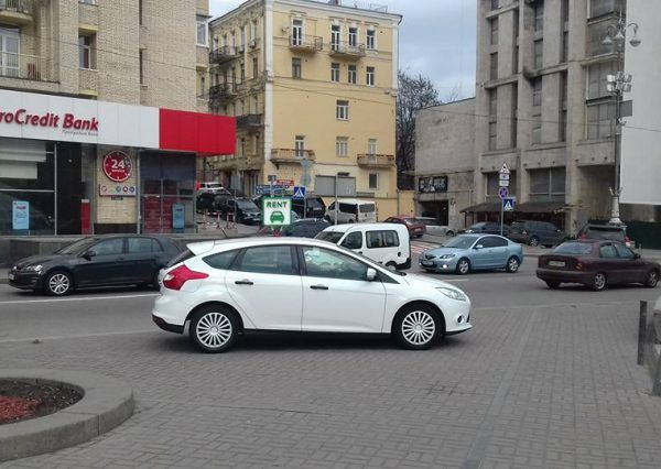 Авто, форд, белый, вид сбоку