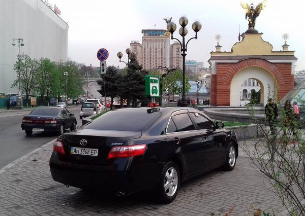 Тойота черного цвета