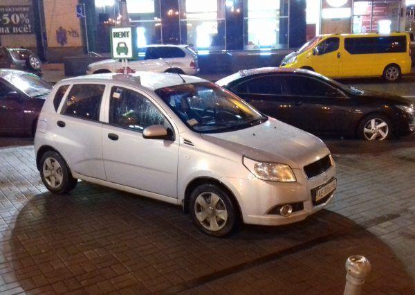 Авто ZAZ, белый цвет