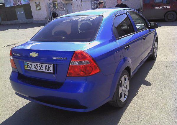 Авто, Chevrolet Aveo Blue, вид сзади